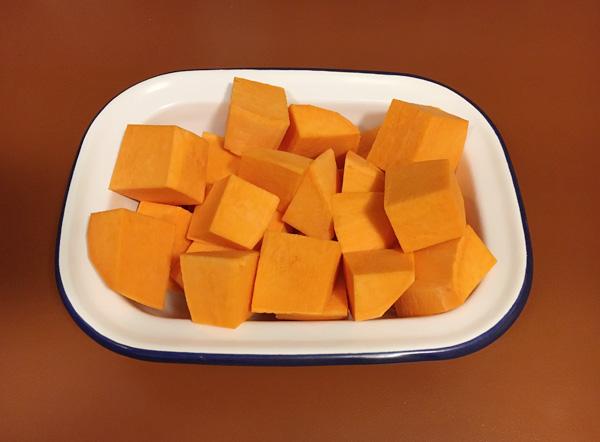 スイートポテトで「かぼちゃの煮物」風を
