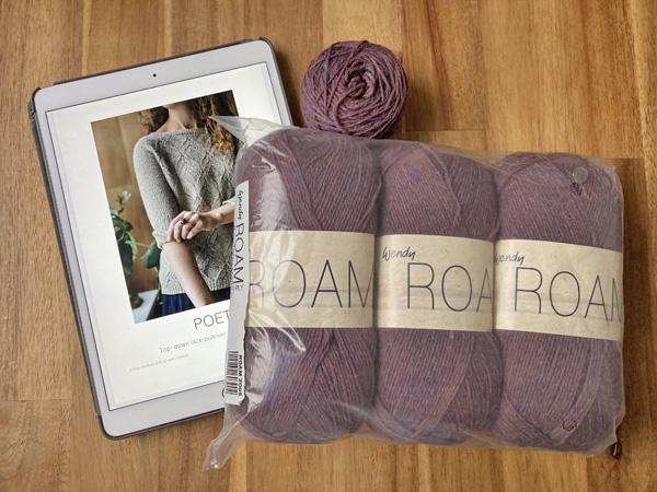 ずっと編みたかったセーターPoetを編み始めることにしました